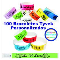 100 Brazaletes Tyvek Varios Colores Eventos, Fiestas Hoteles