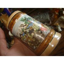 Tarro Aleman Para Cerveza Porcelana Ceramica Folklore Austri