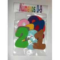 Números De Foamy Con Adhesivo 0-9 Material Didáctico