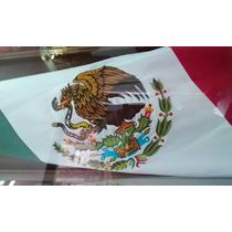 Bandera Mexico Bordada Doble Vista 90x1.58 Mt Razo Reglament