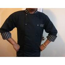 Filipina Chef Elegante Rayada Negra O Cualquier Color