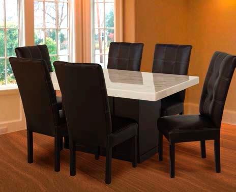 1 mesa de madera con cub de marmol para comedor de 6 per - Mesas de marmol de comedor ...