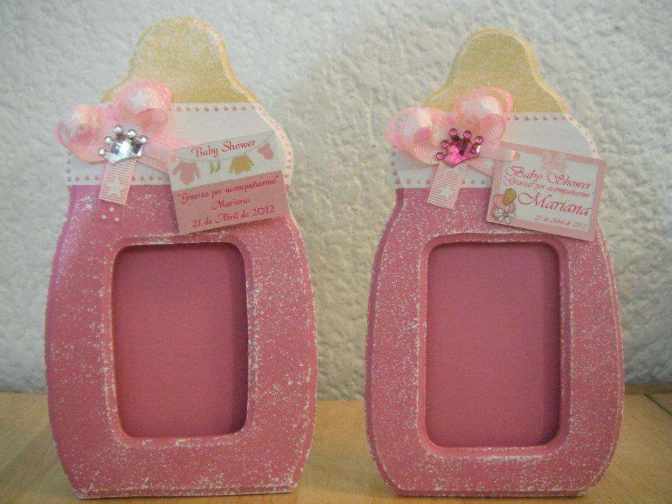 10 Portaretratos De Biberon Para Bautizo O Baby Shower Mn4