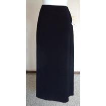 Falda Negra De Corte Clásico, Talla 12!! Fag397