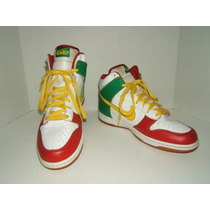 Tenis Nike Air High Dunk Rasta Bob Marley 11us 29cm 9 Mex