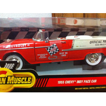 1955 Chevy Indy Pace Car American Muscle Esc 1:18 Vbf