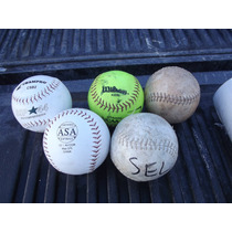 Lote De 5 Pelotas De Beisbol No Bates ,manoplas Guantes