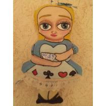 Obra Arte Doll Colgantes Tela Únicos Alicia Frida No Disney