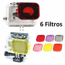 Set 6 Filtros Gopro 3 Carcasa Con Tornillos Accesorio Go Pro