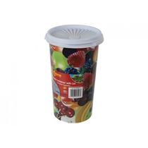 Envase De Alimento - 1.5l 8.5 X5 Tall Plástico Pot W Tapa