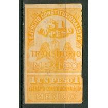 Sc 353 Año 1913 B1 Un Peso Naranja Transitorio Ejercito Cons