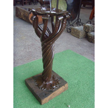 Exclusivo Candelabro Antiguo Forjado A Mano. Unico.