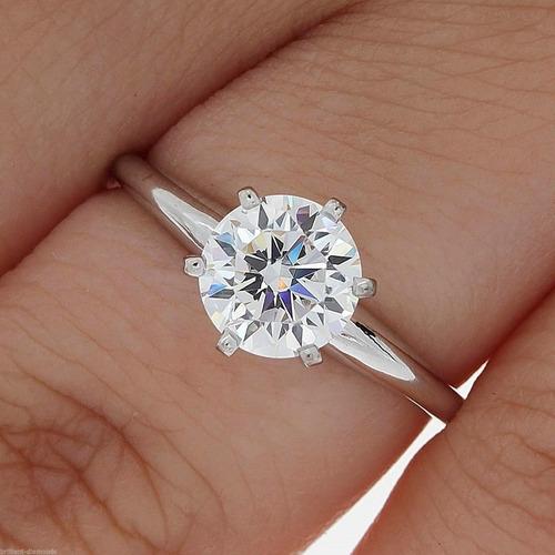 73415a60821b Anillo De Compromiso Diamante De Grafito 1.00 Cts