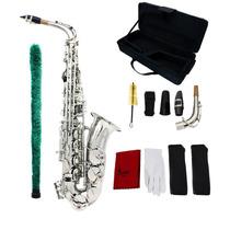 Saxofon Alto Lade Plateado Mib Estuche Accesorios Barato