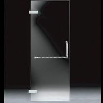 Cancel Puerta (.60x2.00m) Cristal Templado Acero Inoxidable