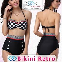 Bikini Traje De Baño Retro Vintage Muy Sexy En Oferta