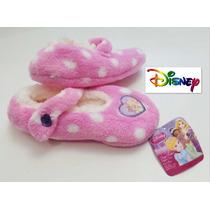Pantuflas Talla 1/3/4 Princesas Disney 22 Cm Nina Fuzzy Rosa