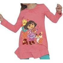 Minivestido Bluson Para Niña Dora Explora 4 6 Y 8 Años Hm4