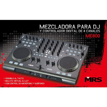 Mezcladora Y Controlador Para Dj De 4 Canales Mrs Me-800