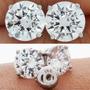 Arete Broquel 1 Carat Diamante De Grafito Oro 14k