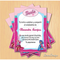 Invitacion Digital Imprimible Barbie Cumpleaños