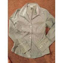 Camisa H&m Stretch De Oficina, Traje, Elegante Mujer