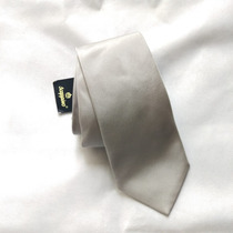 Corbata Scappino - 100% Seda Italiana - Gris Plateada Nueva