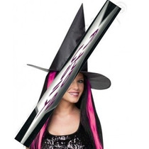3 Sombreros Bruja Con Cabello