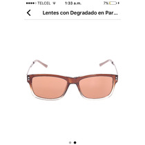 Perry Ellis Lentes Unisex Color Café Degradado