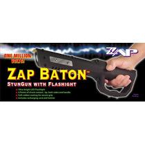 Poderoso Baston Electonico De Defensa Zap Con Linterna ! Maa