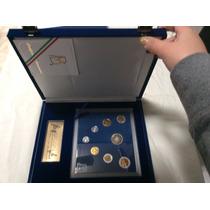 Set Juego De Monedas 1995 Espejo Certificado Terciopelo
