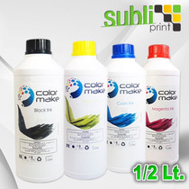 Tinta Para Sublimacion Color Make 1/2 Litro Alto Rendimiento