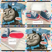 Zapatos 725 Para Bebe Y Playera Thomas & Friends