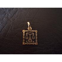 Dije Zodiaco Libra En Chapa De Oro