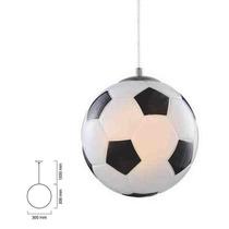 Luminaria Colgante Balón Con Pantalla De Cristal.