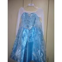 Disfraz Frozen Elsa Con Capa Hermoso Disney Frozen Elsa T5-6