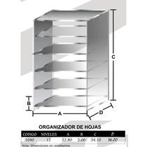 Organizador De Hojas Tamaño Carta 12 Niveles Mod1040