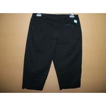 Pantalon Capri Casual Negro White Stag Dama 8-34 Nuevo