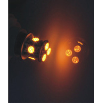 Foco Microled - 2 Focos 1156 8 Led 5050 Smd Ambar 12v