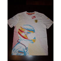 Fernando Alonso Scuderia Ferrari Puma F1 Official T-shirt Ts