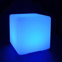 1 Puff Cubo Rgb Iluminado Sala Iluminada 13 Colores Glow