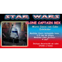 Star Wars Clone Captain Rex Micro Casco C/cubo Exhibidor Maa