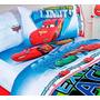 Set De Sábanas Cars Individual Hd + Funda Decorativa