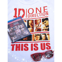 One Direction This Is Us / Pack Bluray Dvd Lentes Y Playera