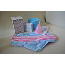 Copa Menstrual Icare Talla 2 + Esterilizador + Toalla Tela