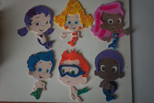 Figuras De Foamy Personajes Bubble Guppies Lote 30 Piezas $180 ...