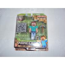 Minecraft Steve Overworld Con Pico Y Bloque