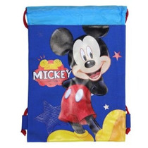 Azul Mickey Mouse Del Morral Del Lazo - Gran Drawsting Bolsa