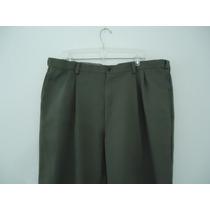Pantalón De Vestir Haggar Verde T- 40