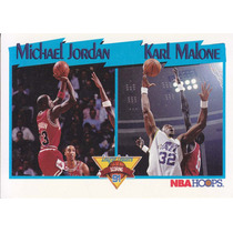 1991-92 Hoops League Leaders Michael Jodan Karl Malone Bulls